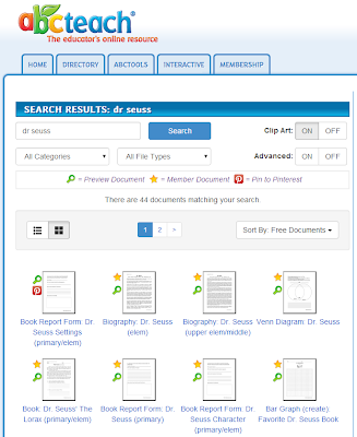 http://www.abcteach.com/search.php?q=dr+seuss&search_type=1&match_words=2&limit_search=1&search_form1_form_visited=1