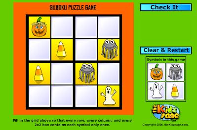 http://www.thekidzpage.com/learninggames/sudoku/4x4halloween.html