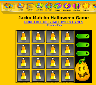 http://www.thekidzpage.com/halloween_games/free-kids-halloween-games/halloween-matching-game.html