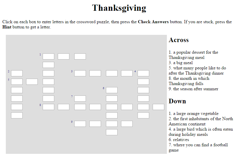 Technology Rocks Seriously Interactive Thanksgiving Resources