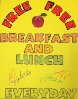Free lunch and breakfast poster