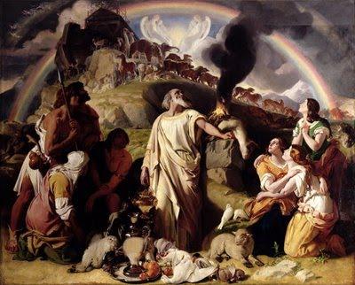 Noah's sacrifice/ sistine chapel - 14heinsig