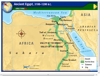 Ancient Egypt Ems Ancient Civilizations Resource Site - Egypt interactive map