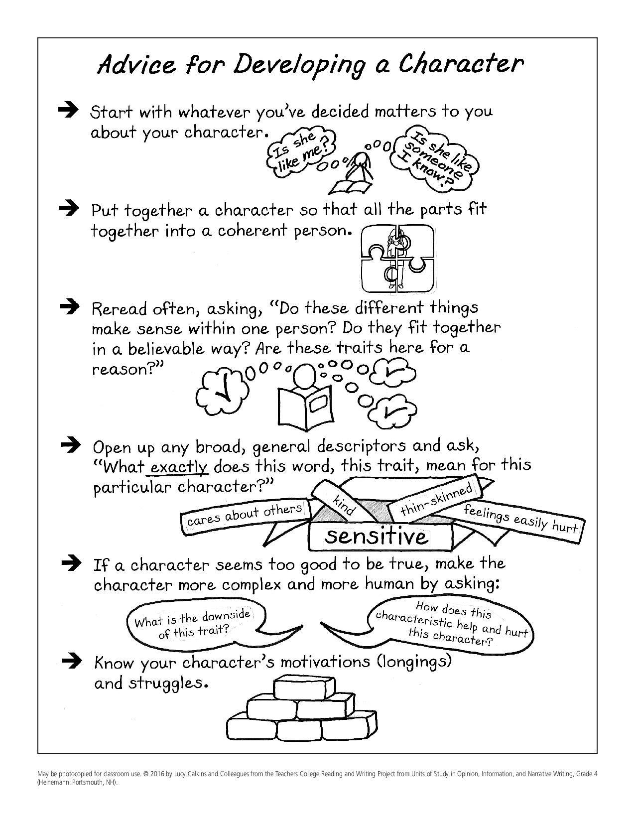 Calkins Narrative Writing Anchor Charts - 4th Grade ELA Links