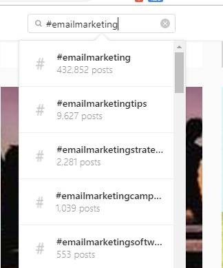 hashtag email markeing