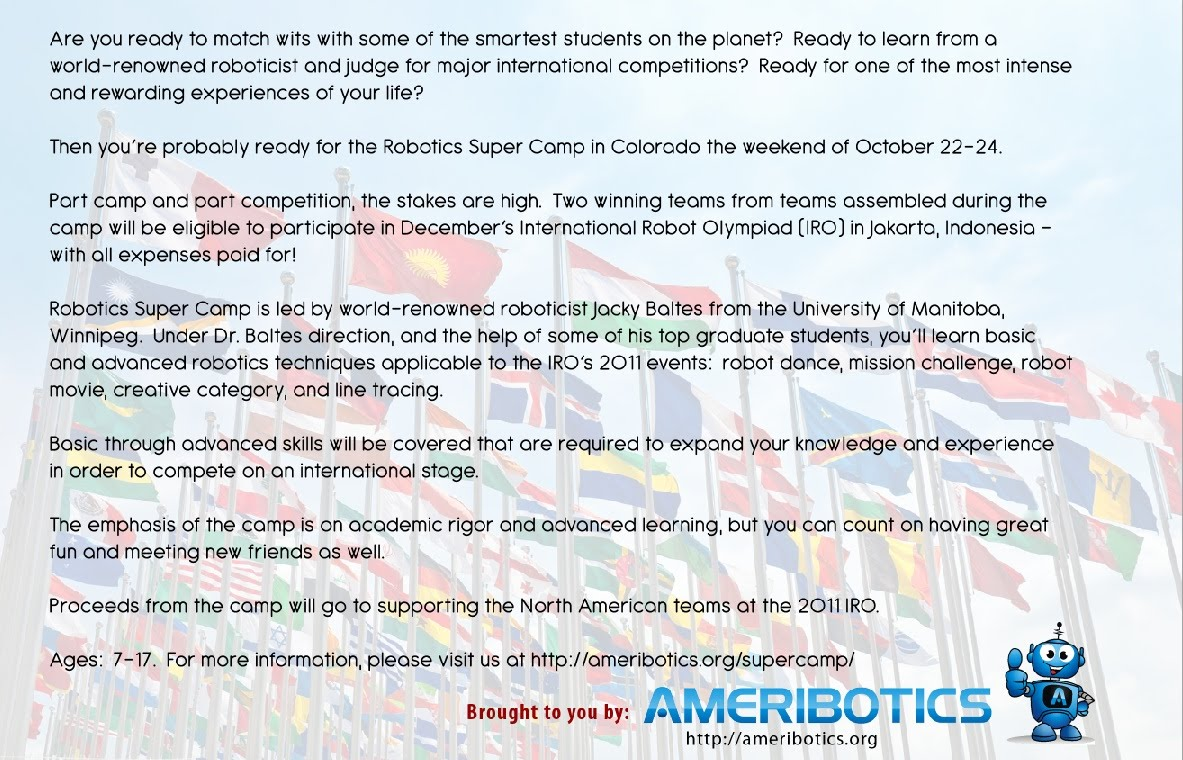 International Robot Olympiad Supercamp Mrms And Mvhs Stream Site