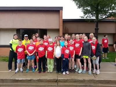 Here's our group that ran or walked the Dekalb 5K Dash! Way to go Country Meadow!