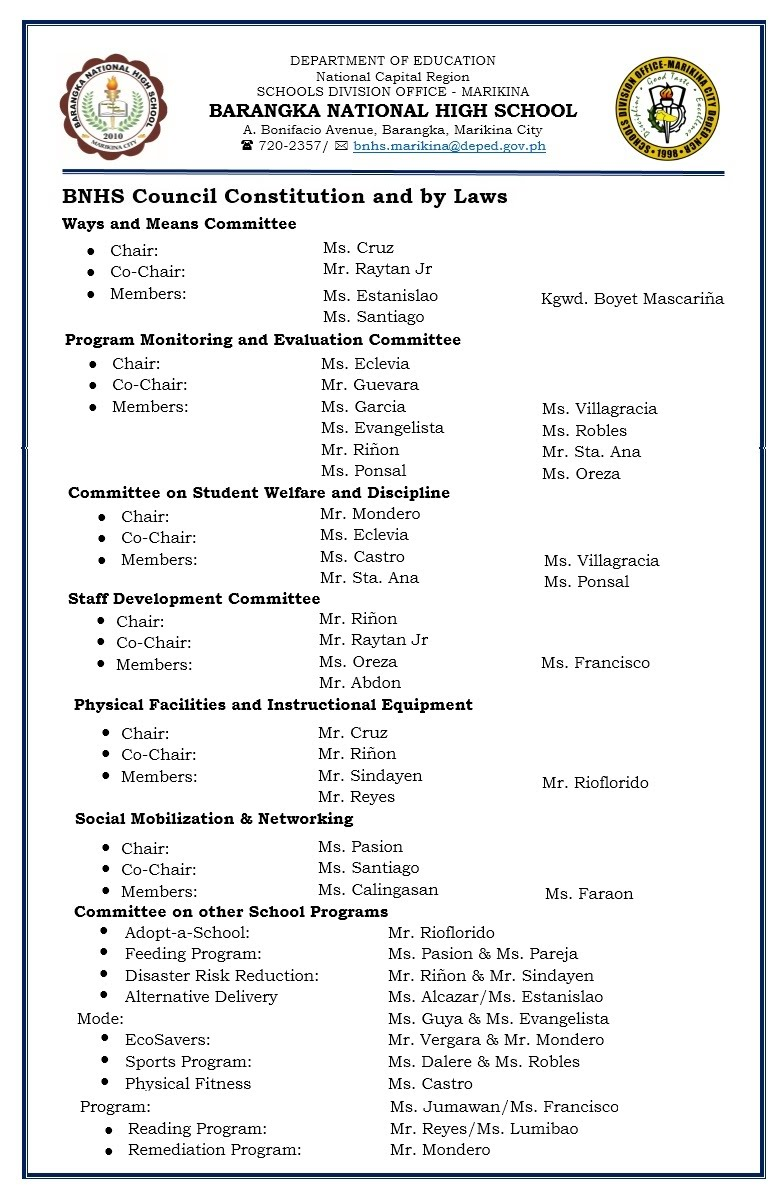 personnel handbook school manual 7 bnhs markina rh sites google com deped educational facilities manual 2013 deped educational facilities manual 2013