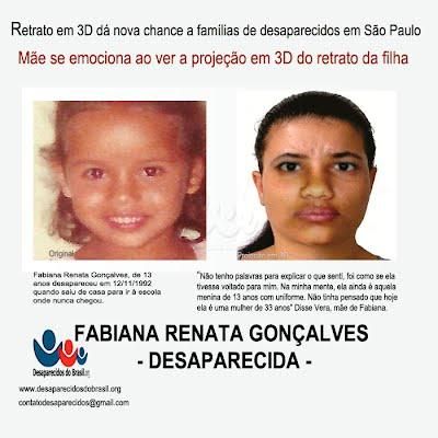 Fabiana Renata Gonçalves Desaparecidos do Brasil