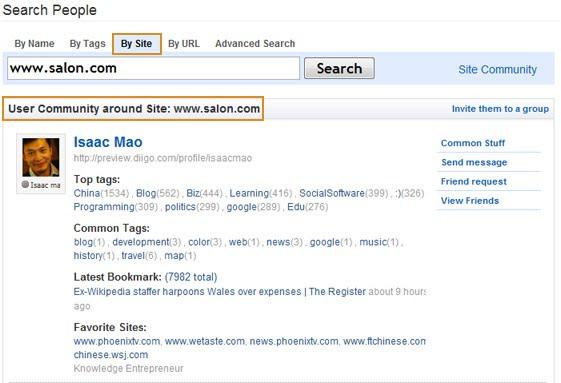 friends search site