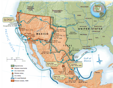 Important Maps AP US History ExpansionPreCivil War - Us map mexican war