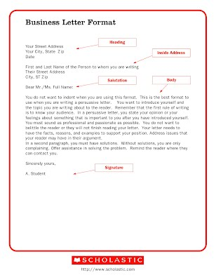 Letter to the author part time indian final project first look at the basics of business style letter writing format click the picture below to see an example spiritdancerdesigns Choice Image