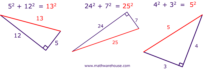 trigonometry mathematics and theorem pythagorean theorem The pythagorean theorem states that for a right triangle with lengths , , and , where is the hypotenuse, the relationship between the side lengths is 2 + 2 = 2  apply the pythagorean theorem to this triangle.