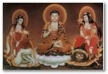 Samantabhadra Bodhisattva - Shakyamuni Buddha - Manjusri Bodhisattva
