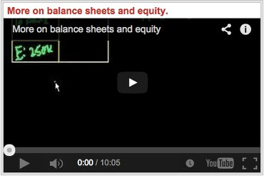 More on balance sheets and equity Maggiori Informazioni sul Bialncio e sul Capitale