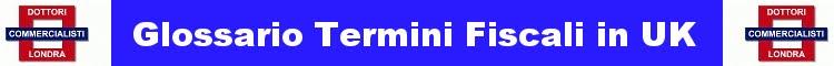 Glossario termini fiscali, Glossary of tax terminology