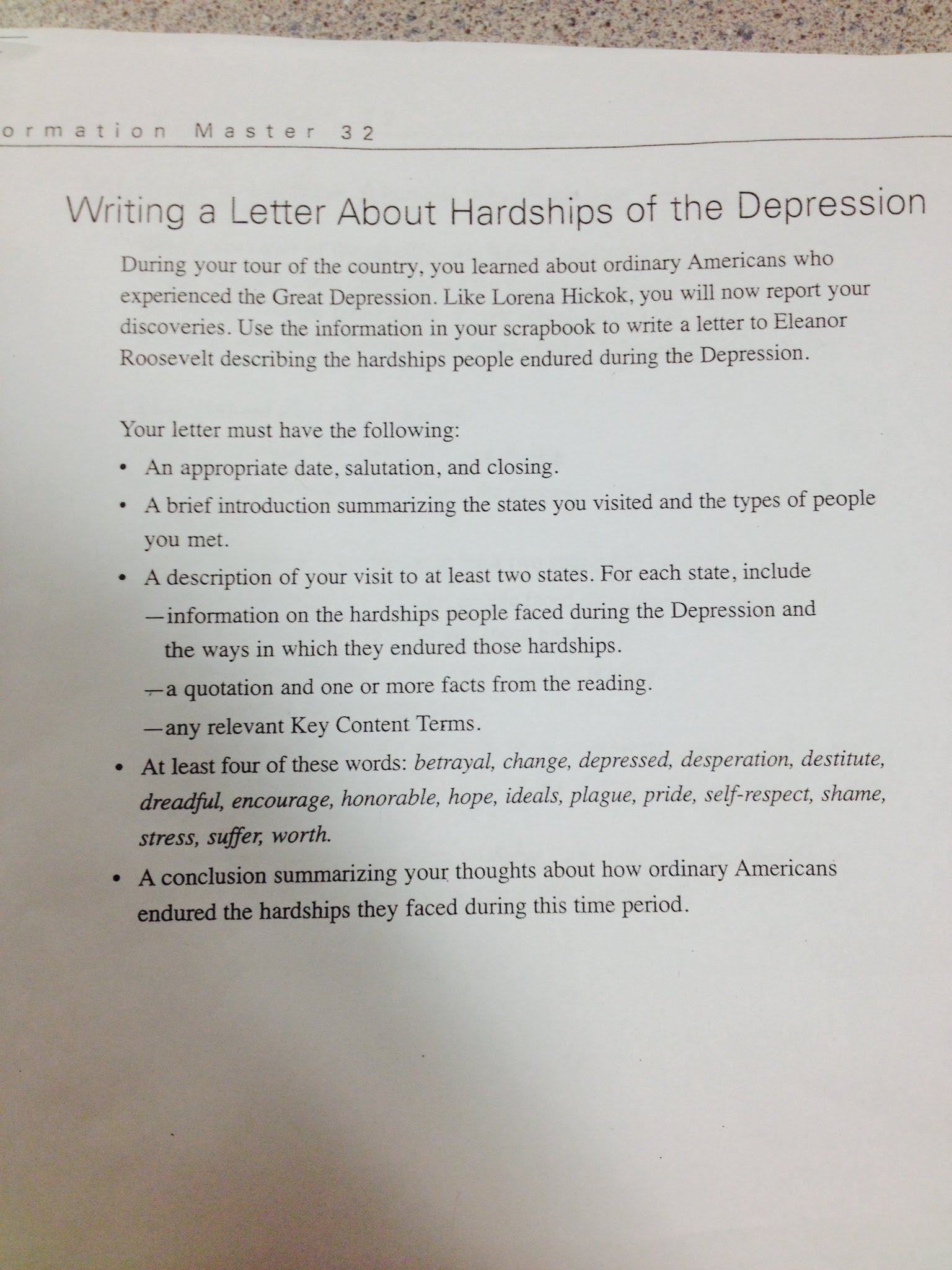 great depression essay letter to first lady mr lihs social  comments