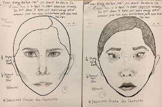 Contour Line Drawing Face : Introduction to art sem 2 ms. casey's classes