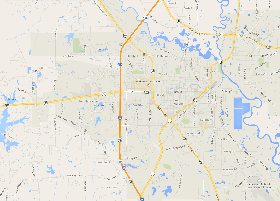 The Geography of Wine in Hattiesburg, Mississippi
