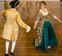 Baroque dancing, John & Aylwen, at the Albert Hall