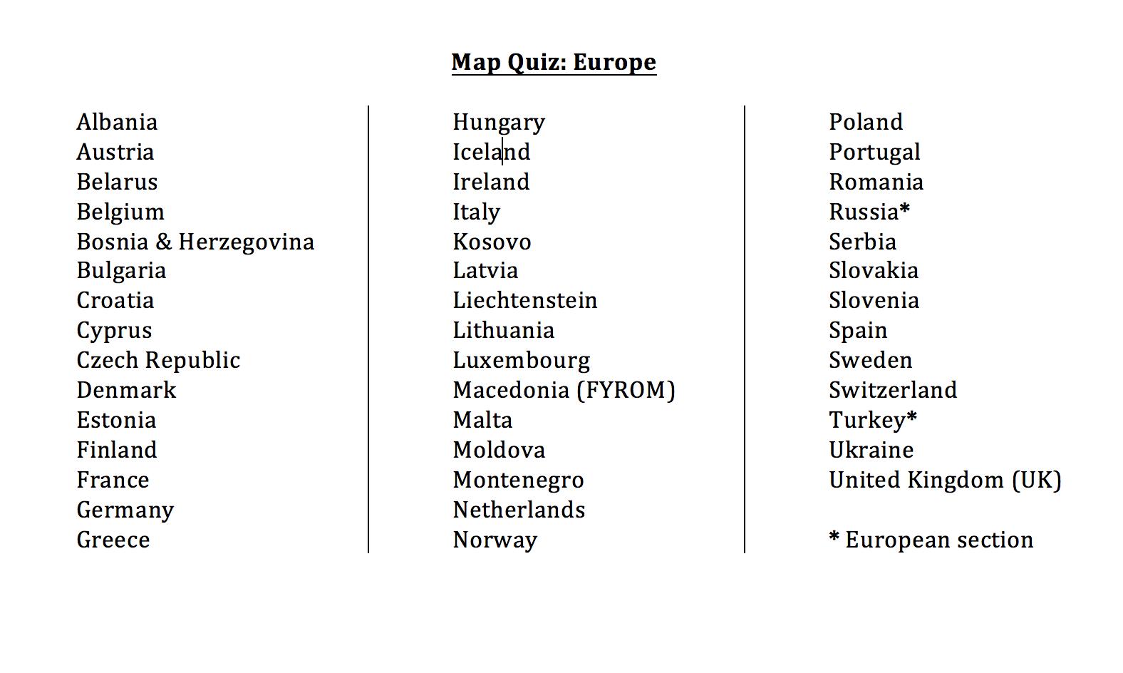 Seterra Europe Map   Global Map