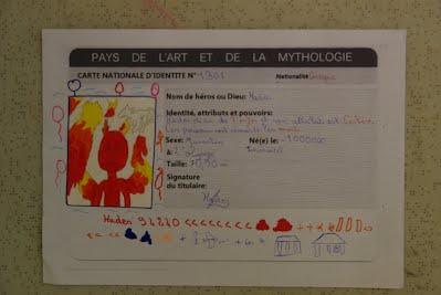 une carte d identité Cartes d'identité antiques   Arts plastiques