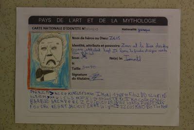 la carte d identité Cartes d'identité antiques   Arts plastiques