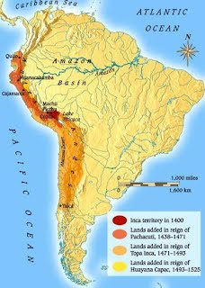 Inca Empire On World Map.Maya Aztec Inca Maps