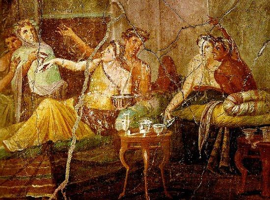 Pintura al fresco. Pompeya.