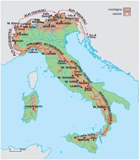 geographic map of italy Geography and Resources   BallyRome7