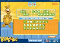 http://www.wordgames.com/hangaroo.html