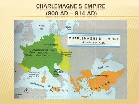 Charlemagne\\\'s Empire Map Dark Ages 13 1   Global 9