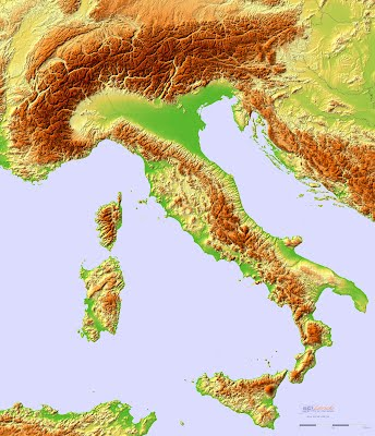 geographic map of italy Rome Day 1 Geography