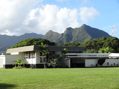ELES Library with mountains in the background