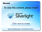 Sliverlight site image link will open in a new window.