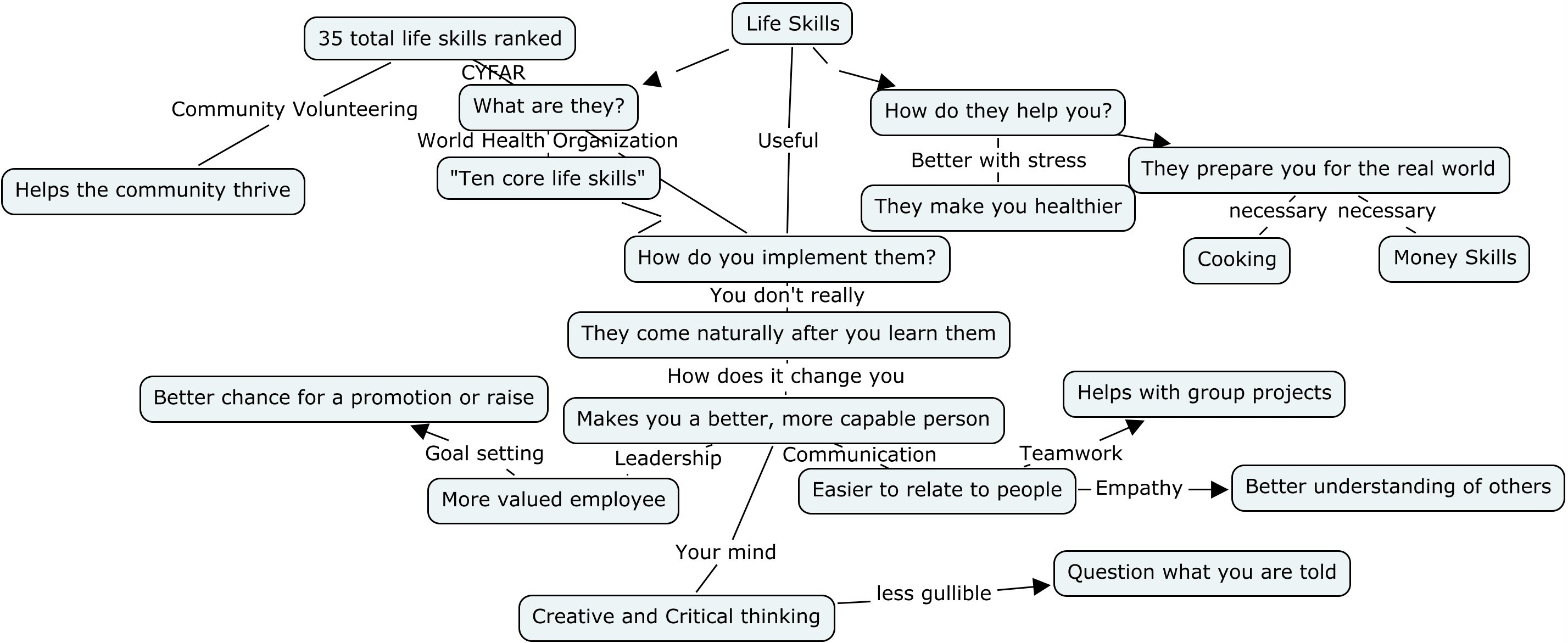 Map 4 Life.Concept Map For Life Skills Education Schmidtr