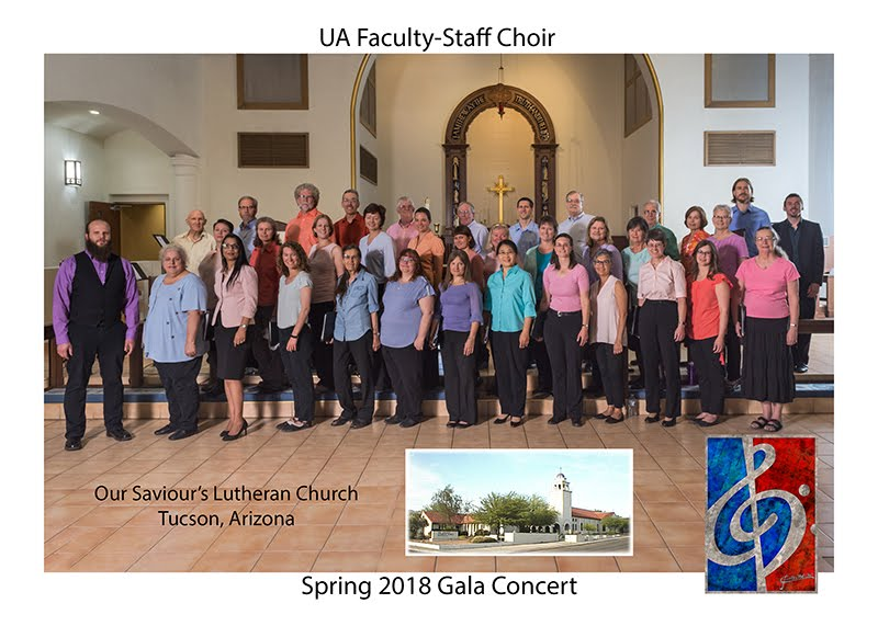 Photo of the choir at our spring 2018 concert