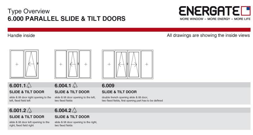 6.000 Parallel slide & tilt doors