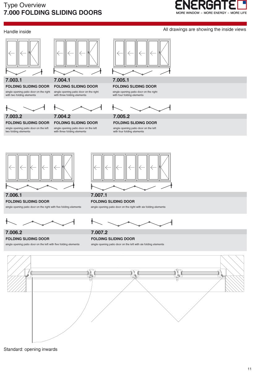 7.000 Folding sliding doors
