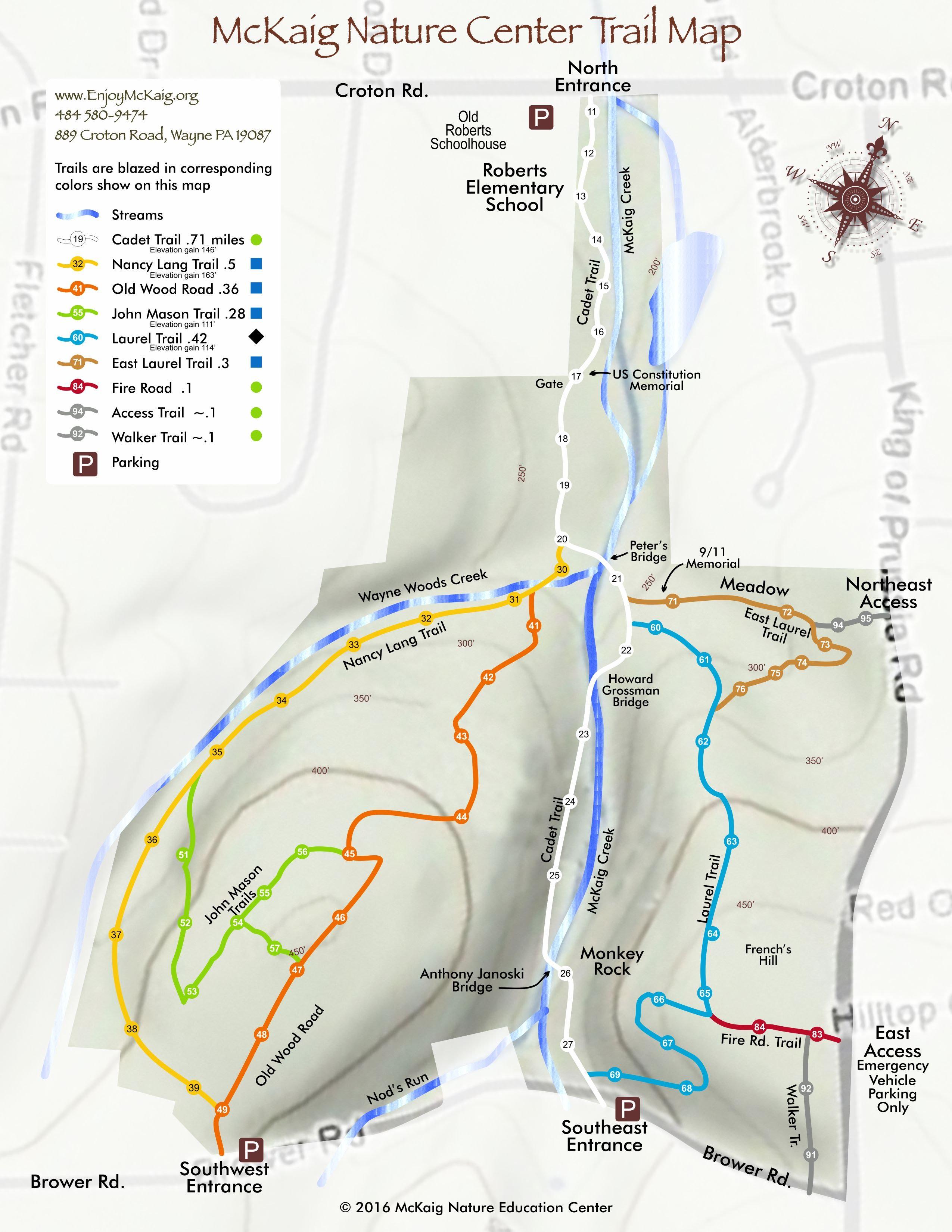 Visit Us - Trail Map - EnjoyMcKaig Nature Education Center Home