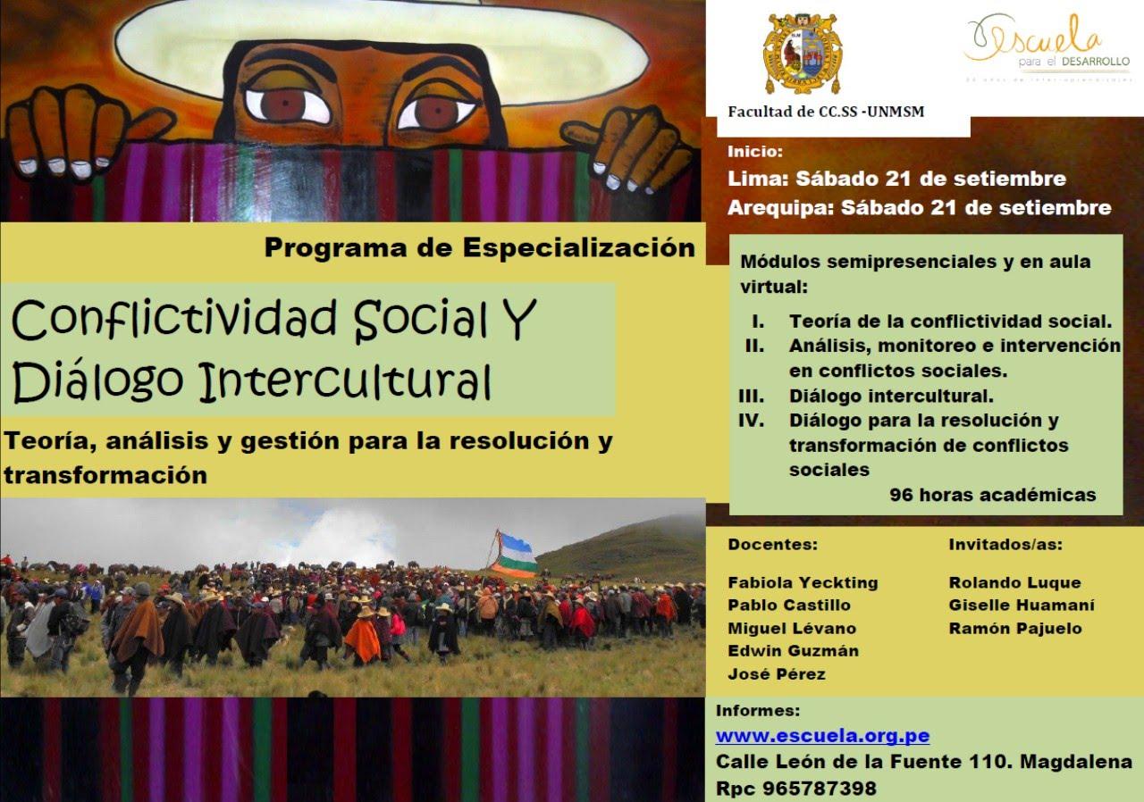 Programa de Especialización - Conflictividad Social y Diálogo Intercultural