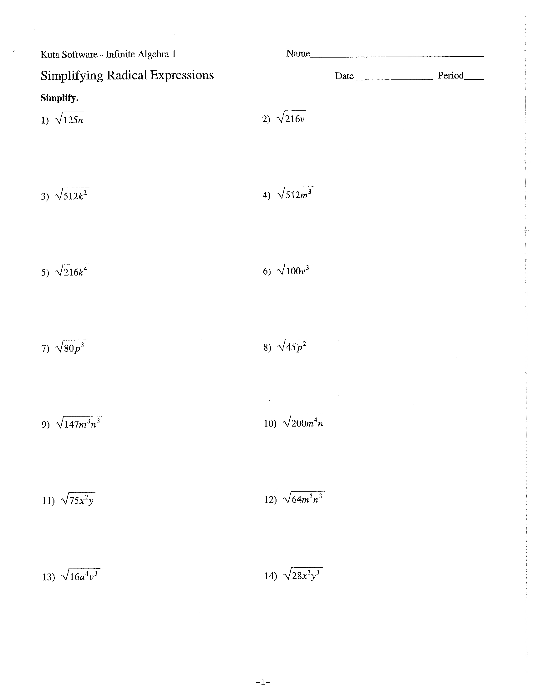 Worksheets Integrated Math 1 Worksheets integrated math mswhitington unit 1 homework 5 tif