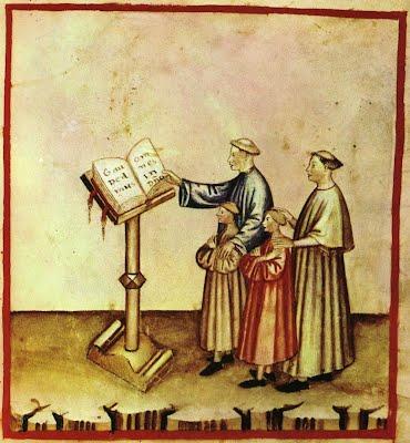 Medieval choir singers