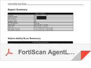 FortiScan AgentLess Vulnerability Scan, demo.pdf