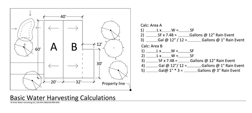 Rainwater Calculator - Ethos Rainwater Harvesting | Tucson