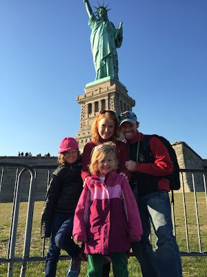 Family Visit to the Statue of Liberty