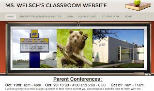 Classroom Website Screenshot