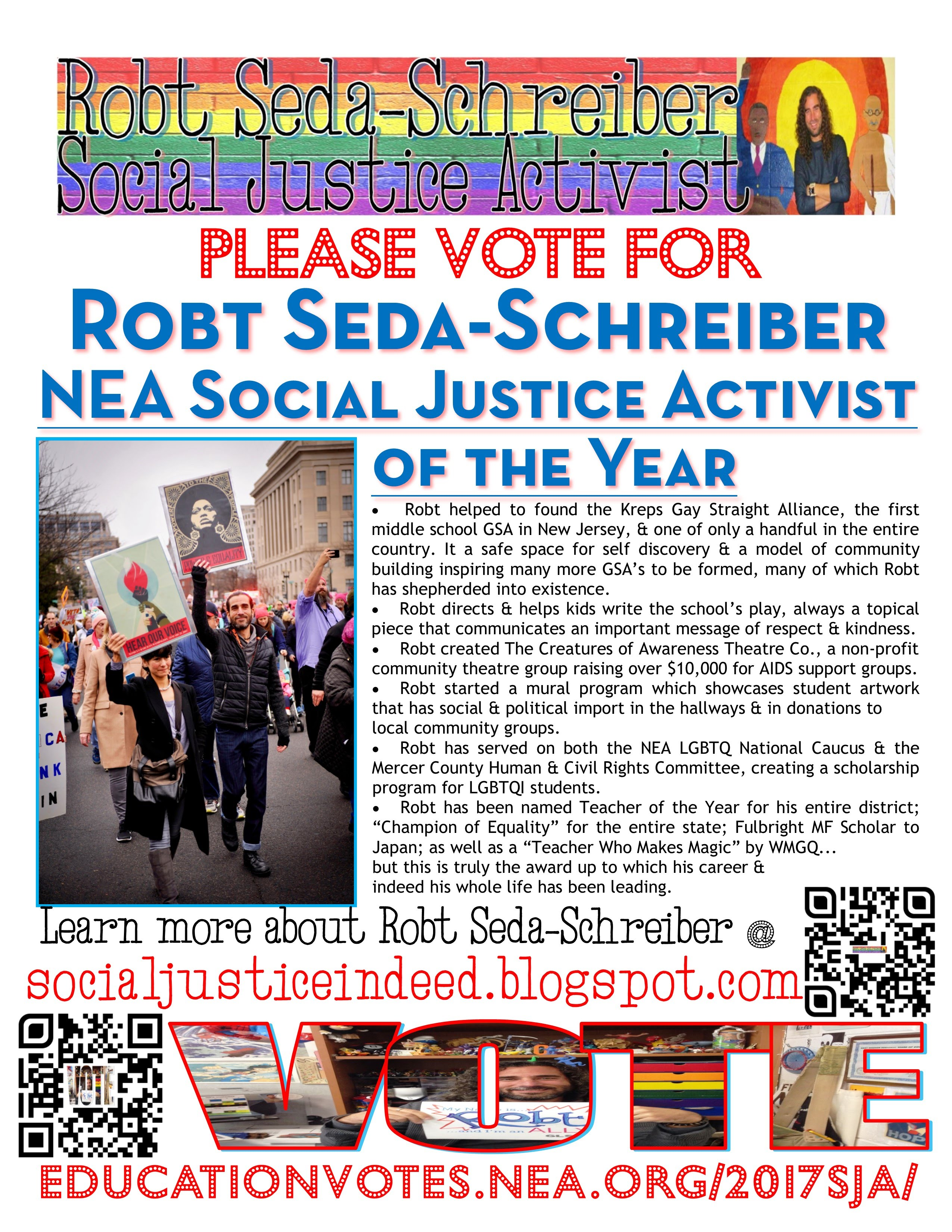 Please vote for Mr. Seda-Schreiber!