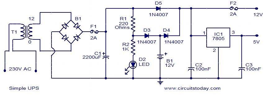 Circuito Ups 12v : Projeto s eletrônica