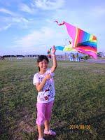 圖二.孟群在南寮放的風箏真有設計美感